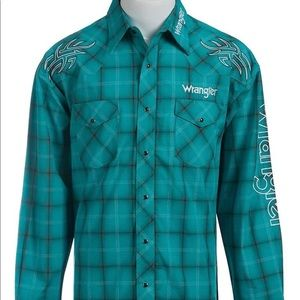 Wrangler Western Rodeo Shirt Logo Pearl Snap 2XLT
